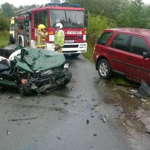 Man trapped in car for over an hour following crash