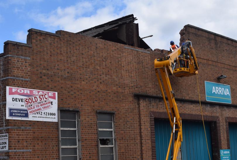 Home Depot Demolition : Demolition starts to make way for new homes at wellington