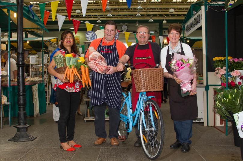 Traders at Shrewsbury Market Hall prepare for the Sunday Shopping Showcase