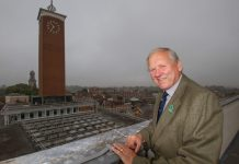 Stan Sedman will lead roof-top tours of the town's Market Hall