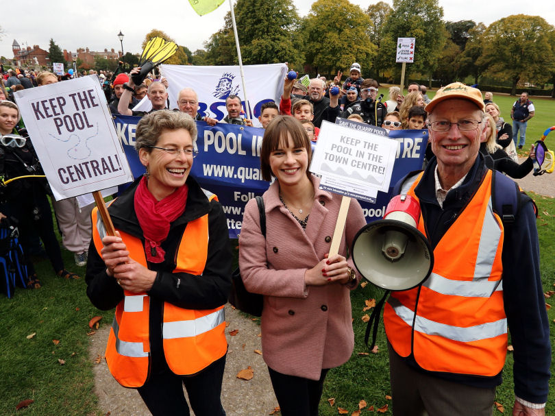 Hundreds Turn Out For Shrewsbury Swimming Pool Rally Shropshire Live