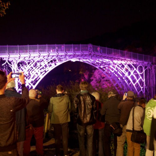 Iron Bridge lit up in all its glory as part of Night of Heritage Light