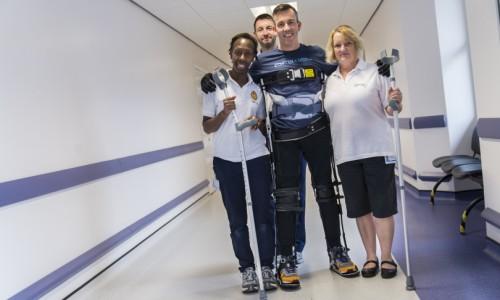 Paralysed cycling champion Martyn Ashton walks tall