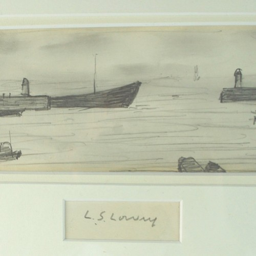 L.S. Lowry pencil drawing sells for £13,000 at Shrewsbury fine art auction