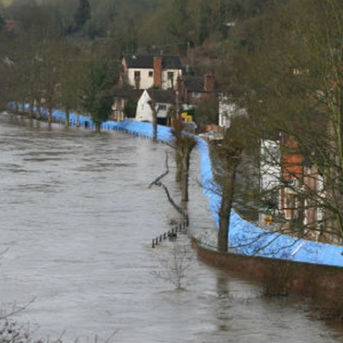 Flood barriers to go up on the Wharfage in Ironbridge