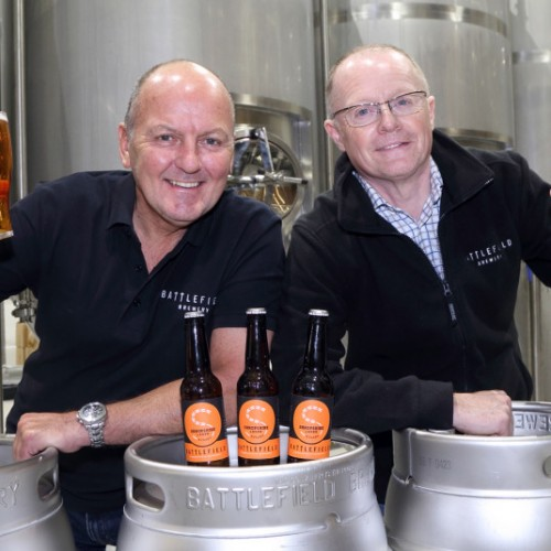 New Shropshire brewery toasts launch of craft lager