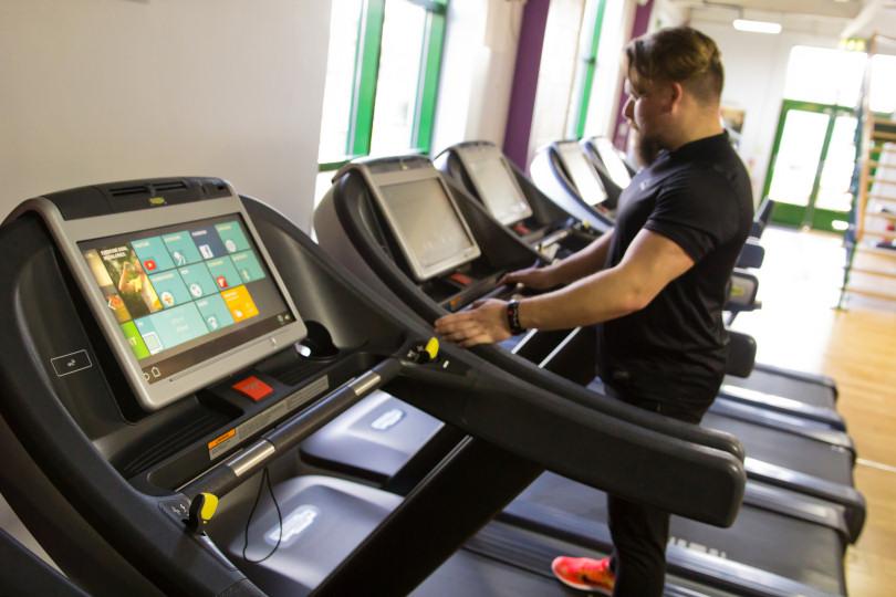 Kieran Gouffaert, a gym instructor at The Shrewsbury Club, ready to lend a helping hand during the Get Shrewsbury Active campaign