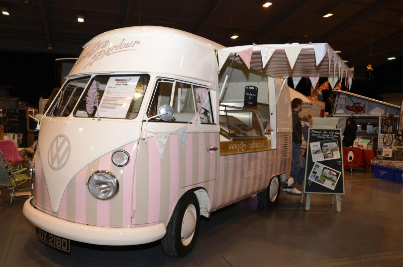 Polly's Parlour owns a multi awarding winning beautifully restored 1966 VW vintage ice cream van called 'Florence'