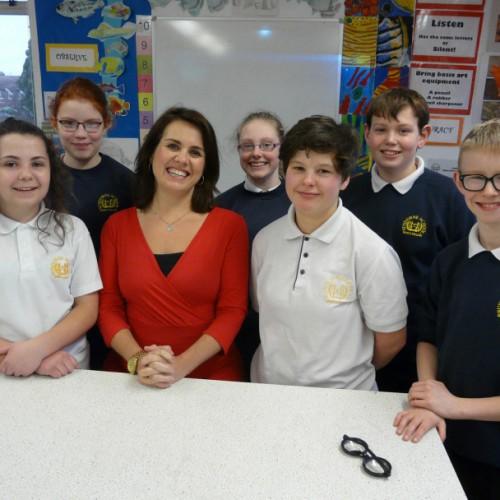 BBC newsreader visits Shrewsbury secondary school