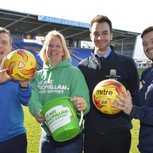 Shrewsbury Town's FA Cup goals against United will benefit cancer charity