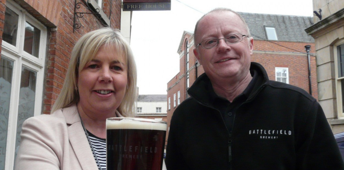 Battlefield Brewery teams up with real ale pub