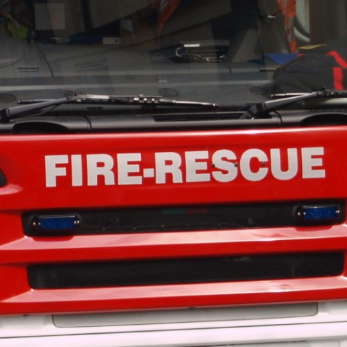 Tractor fire affects overhead power lines in Telford
