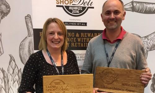 Shropshire's Own win two awards at prestigious Farm Shop & Deli Awards 2016