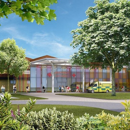 Artist impressions show how a new single Emergency Centre for Shropshire could look