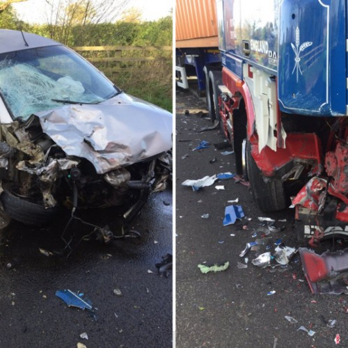 A49 reopens following collision involving car and lorry at Dorrington