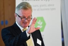 Paul Hinkins at the launch of the Marches Growth Hub in 2015