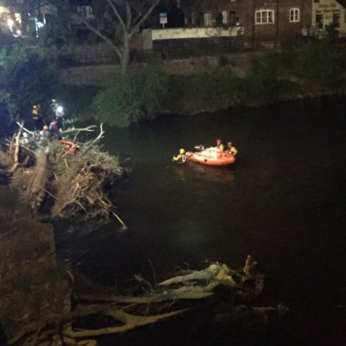 Two rescued after dinghy becomes trapped in debris on River Severn in Bridgnorth