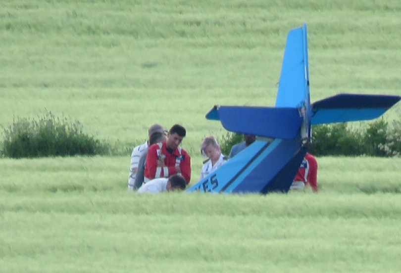The light aircraft crashed in a field near Shifnal. Photo: Michelle Marshall