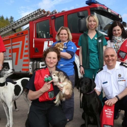 Shropshire fire appliances to carry pet oxygen masks