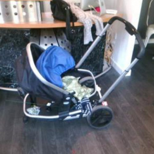 Baby has lucky escape after shop sign falls on pram in Newport