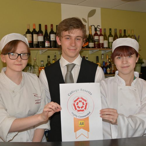 Shrewsbury College restaurant awarded highest AA Rosettes