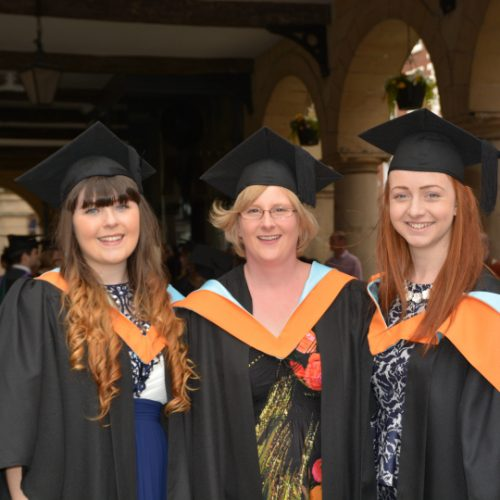 Higher Education students take part in annual graduation ceremony in St Chad's