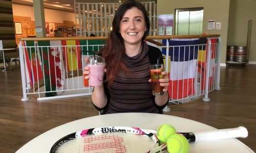 Tennis fans in Shrewsbury swap Pimms cocktail for healthy shakes