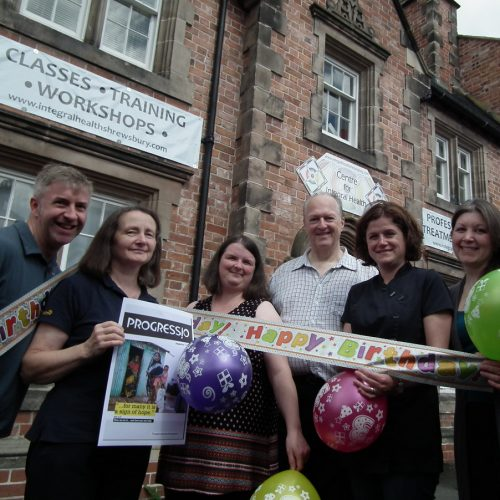 Birthday party with charity twist for Shrewsbury natural health and wellness centre