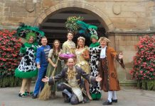 The cast of Theatre Severn's forthcoming pantomime 'Cinderella'