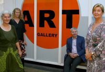 Sara Mai, director, PCA, Wren Miller, eco artist, Julian Price, MD and Julie Hotchkiss, retail manager, Reviive