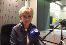Sybil Ruscoe recording Signal's BBC R4 Appeal at BBC Broadcasting House in London