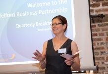 Telford Business Partnership Chairman Jan Minihane