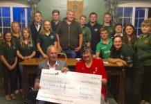 Rushbury and Cardington YFC have been raising money for charity