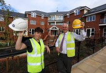 Helen Pugh, Severnside Housing, with Morris Property contracts manager, Steve Bowen