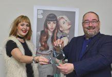 Lauren Foskett and Gavin Pulham of Toni & Guy Shrewsbury with their award