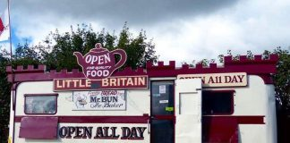 The Little Britain Cafe located just off the A49 between Craven Arms and Church Stretton
