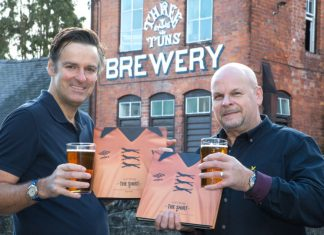 John Russell of Three Tuns Brewery and Steve Plant author of They Wore The Shirt