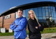 Duncan Richards, managing director of UK Tinting Solutions and manager of Anytime Fitness, Jenny Daniel outside the club