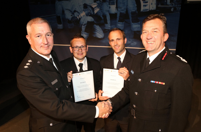 Two Shropshire PCSOs become retained firefighters as part of