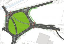 Drawing showing Meole Brace roundabout once the work is complete