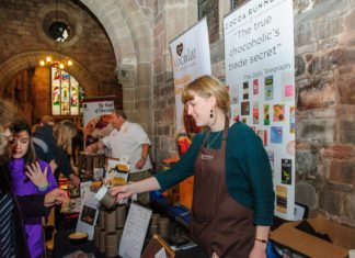 Exhibitors at last year's Shrewsbury Chocolate Festival