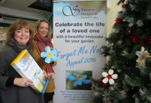Market facilities manager Kate Gittins with Elodie Home, legacy advisor for Severn Hospice