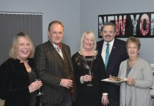 Pictured are, from left, Julie Fullwood, James Fullwood, Debbie Randall, Tony Randall and Bev George