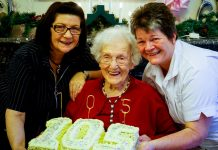 Doris Morris in Oswestry celebrates her 105th Birthday