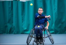 Scott Smith, a member of the Shropshire Wheelchair Tennis Group, will be defending his singles and doubles titles in the Shrewsbury Summer Open at The Shrewsbury Club this week