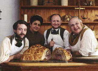 Victorian Bakers Christmas stars Duncan Glendinning, Harpreet Baura, John Swift and John Foster