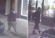 Police are looking to speak to the two men pictured in the CCTV images