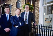 mfg partners Richard Connolly, Peter Stephens and Alastair Brierley