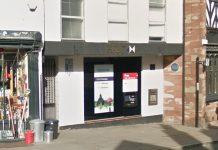 HSBC at the top of Corve Street in Ludlow is to close in May. Photo: Google Streetview