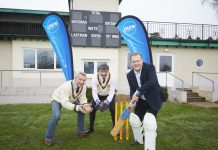 Pictured at the launch of the sponsorship deal at Wrekin College are, from left, Bryan Jones of Shropshire County Cricket Club, event organiser Toby Shaw and Matt Sandford of Pure Telecom